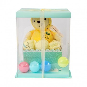Little Sparks Newborn Gift Set With Stuffed Toy Yellow