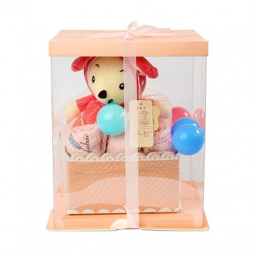 Little Sparks Newborn Gift Set With Stuffed Toy Pink