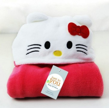 BABY BLORE BLANKET HELLO KITTY RED