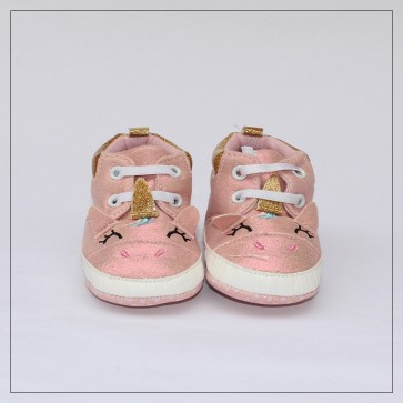 Baby Steps Baby Shoes Pink Unicorn