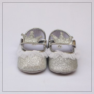 Baby Steps Baby Shoes Silver Crown