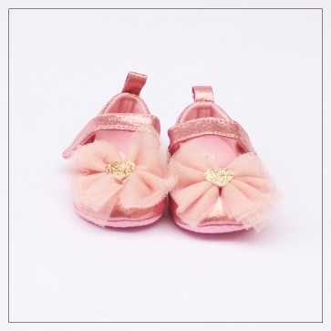 Baby Steps Baby Shoes Pink Flowers