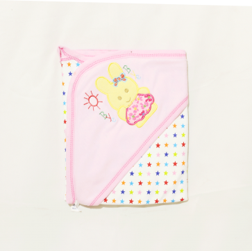 Little Star Baby Wrapping Sheet Bye Bye Pink