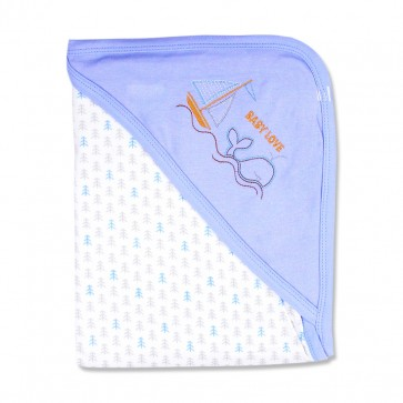 Little Star Wrapping Sheet Boat Blue