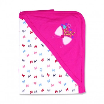 Little Star Wrapping Sheet Bow Dark Pink