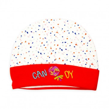 Little Star Baby Cap Dots Red