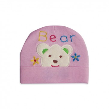 Little Star Baby Cap Emb. Pink