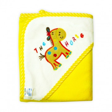 Little Star Baby Hooded Towel Horse Yellow