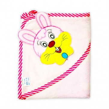 Little Star Baby Hooded Towel Rabbit Pink