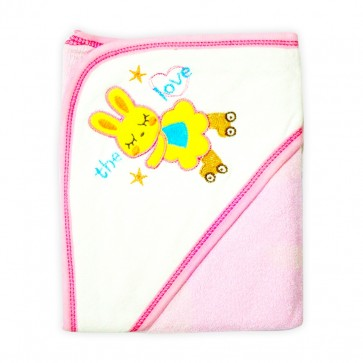 Little Star Baby Hooded Towel Doll Pink