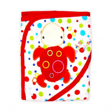 Little Star Baby Hooded Towel Turtle Red