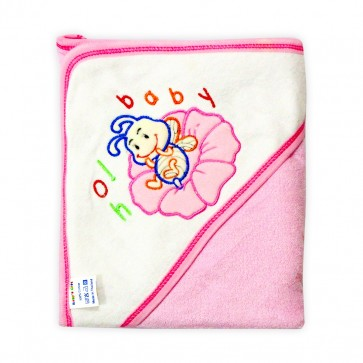 Little Star Baby Hooded Towel Bug Pink