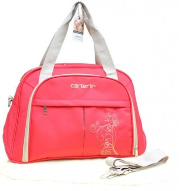Little Star Emb Mothers Bag Red