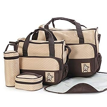 Baby Diaper Bag 5 Pcs Brown