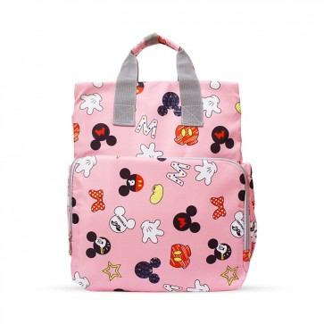 Baby Diaper Bag (Waterproof) Micky Mouse Pink