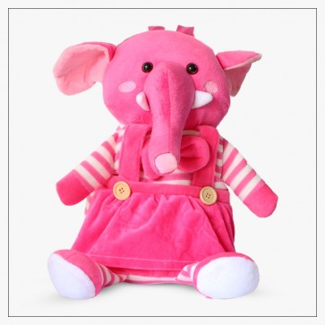 Little One Character Bag Elephant Pink