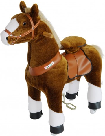 Ride-On Horse Toy Brown