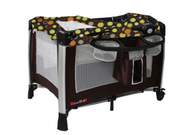 Bachaa Party Attractive Baby Play Pen - Brown