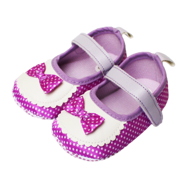 Baby Steps Shoes Purple Bow