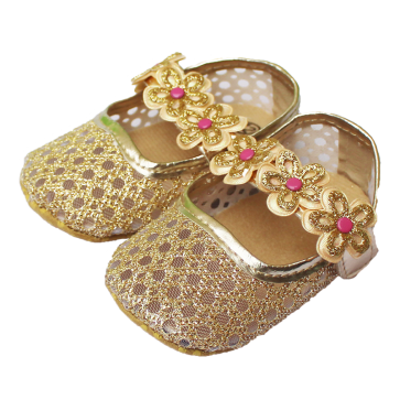 Baby Steps Shoes Shiny Golden