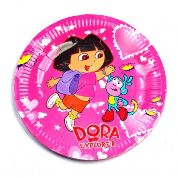 Little Sparks Birthday Disposable Plate 10pcs Dora