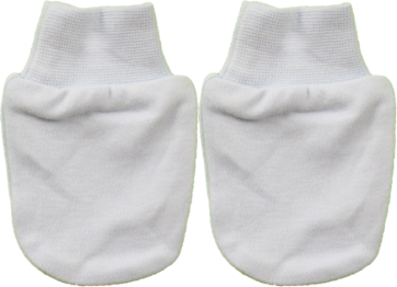 CUBY BABY MITTENS WHITE