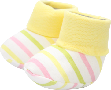 Cuby Baby Booties Yellow Stripes