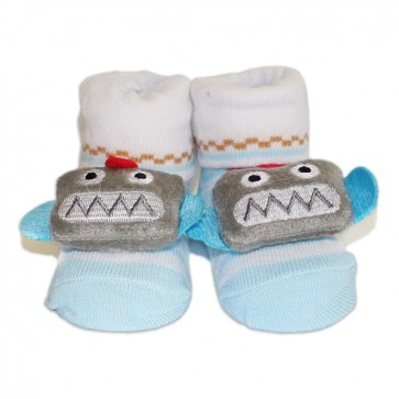 Cuby Baby Character Socks Blue
