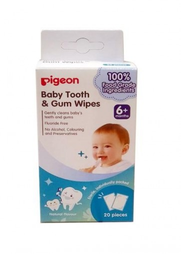 PIGEON BABY TOOTH & GUM WIPES NATURAL
