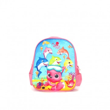 Little Star Baby Shark Character Bag Pink