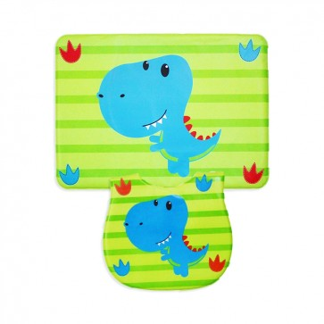 Careone Pack Of 2 Baby Bib & Napkin Set Dino Green