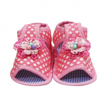 Little Sparks Baby Newborn Booties Butterfly Pink