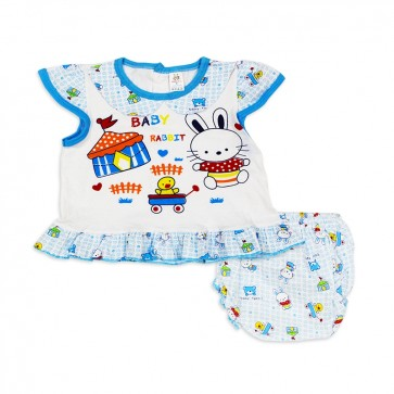 Little Sparks Baby Frock Set Baby Rabbit Blue