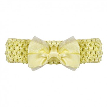 Little Baby Headband Yellow Bow