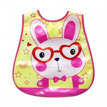 Little Sparks Baby Plastic Bib Rabbit Pink