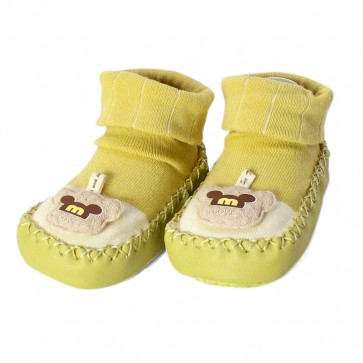 Little Sparks Baby Bootie Monkey Green