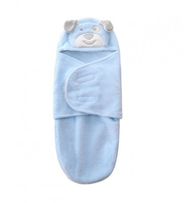 Little Sparks Baby Winter Swaddle Puppy Blue