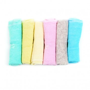 Little Sparks Baby Face Towel Pack Of 6 Multicolor