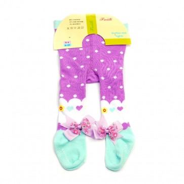 Little Sparks Baby Tights Purple (0-6 Months)