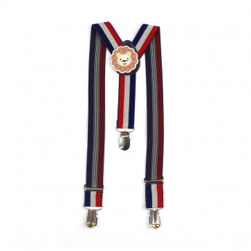 Little Sparks Baby Suspenders Red & Blue