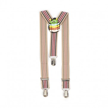 Little Sparks Baby Suspenders Brown Stripes
