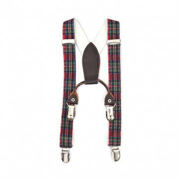 Little Sparks Baby Suspenders Check