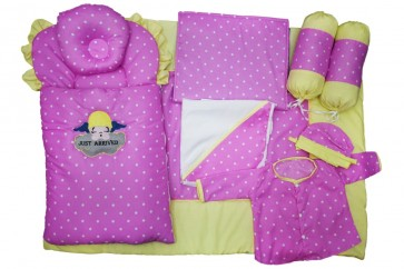 Jack&Jill 9pcs Set Arrived Pink & Green