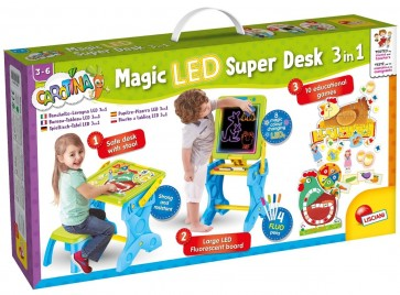 Lisciani Carotina Led Desk Play And Learn 3 In 1