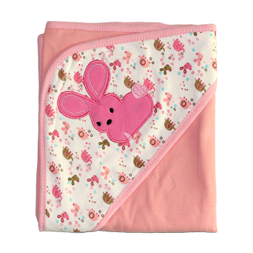 Wonder Child Wrapping Sheet Light Pink Rabbit