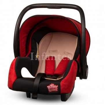 Bright Starts Baby Carry Cot Red & Grey
