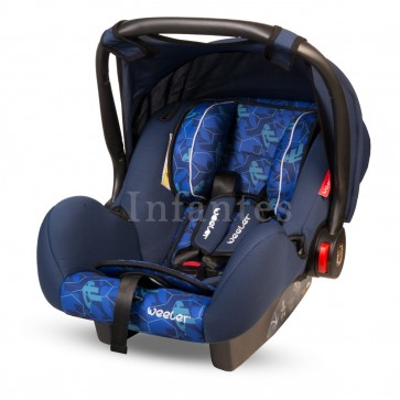 Weeler Baby Carry Cot Printed Blue