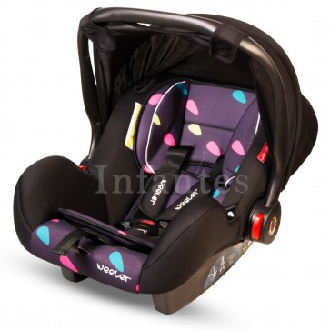 Weeler Baby Carry Cot Printed Purple & Black