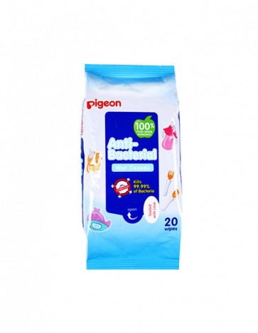 PIGEON ANTI-BACTERIAL WET TISSUE, 20S