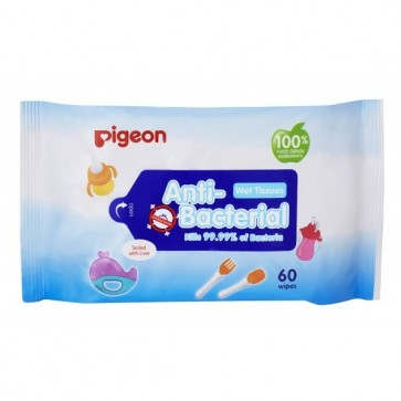 PIGEON ANTI-BACTERIAL WET TISSUE, 60S